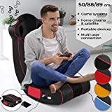 Nova - Sillón musical de Gaming de piel sintética - Plegable, acolchado con altavoces Surround y Subwoofer - Multimedia, Gaming, silla mecedora, oscilante, relax, música - Color a elegir