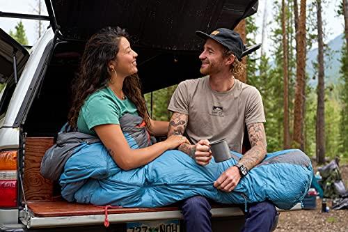 Kelty Cosmic 20 Degree Down Sleeping Bag - Ultralight Backpacking Camping Sleeping Bag with Stuff Sack, Blue, Regular