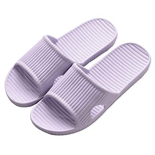 N/E Pantofole Antiscivolo Unisex Pantofole con Suola in Schiuma Ultraleggera per Interni, Esterni, Bagno, Giardino e Piscina(Viola EU40-41)