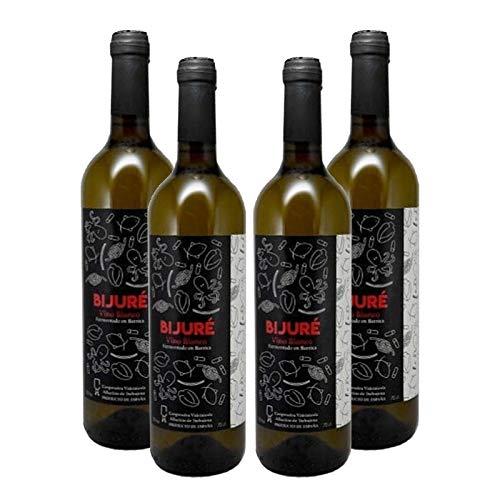 Vino Blanco Bijure de 75 cl - Elaborado en Cadiz - Cooperativa Vitivinicola Albarizas de Trebujena (Pack de 4 botellas)