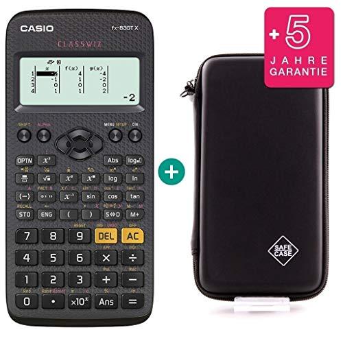 Casio FX-83GTX Schwarz + SafeCase Schutztasche + Garantieverlängerung auf 60 Monate
