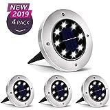 Luci Solari Giardino 8 LED,Dingde Luci led Solari da Esterno,LED Luce Sepolta Solare IP65 ...