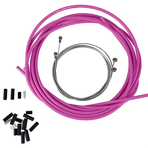 Mountain Bike Gear Cable Teflon Coated Inner Wire Pink Colour Rear Standard 2mm