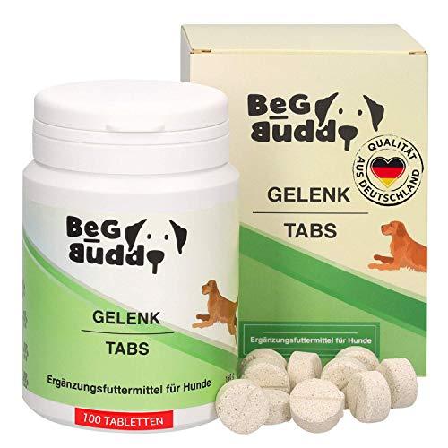 BeG Buddy Gelenktabletten Hund - Gelenkkapseln hochdosiert mit Grünlippmuschel, Teufelskralle, MSM, Glucosamin - für alle Hunde-Rassen - 100 Tabs