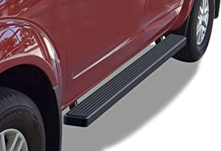 APS iBoard (Black Powder Coated 4 inches) Running Boards Nerf Bars Side Steps Step Rails Compatible with 2005-2020 Nissan Frontier Crew Cab Pickup 4-Door