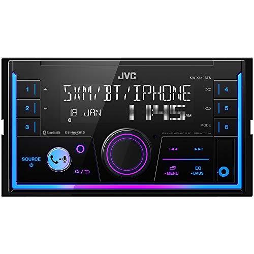JVC KW-X840BTS Bluetooth Car Stereo Receiver with USB Port – AM/FM Radio, MP3 Player, Amazon Alexa Enabled - 1.5-line display - Double DIN – 13-Band EQ (Black)
