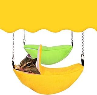 Ofanyia Banan chomik łóżko małe zwierzę łóżko dom klatka gniazdo, przytulna mata do jaskini ciepły worek dla myszy szczury...