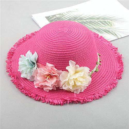 ZFLL Zonnehoed voor de zomer, vader, voor dames, strohoed voor baby's, zonnehoed voor op het strand, naaiproces maken deze hoed