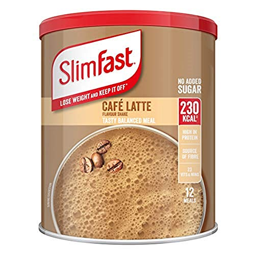 SlimFast Meal Shake, Caf' Latte Flavour, New Recipe, 12 Servings, Lose Weight and Keep It Off, Packaging May Vary