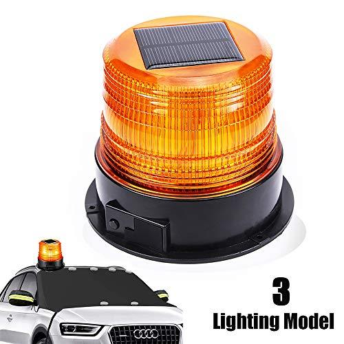 12V Solar Warnleuchte LED Rundumleuchte Magnet Warnlicht Blinkleuchte für Auto PKW LKW Kabellose super helle