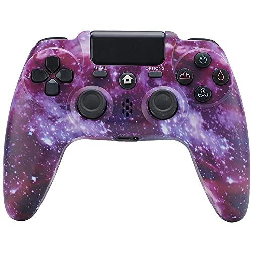 LVHI Mando para PS4, Joystick Inalámbrico para, Controlador con Vibración Doble / 6-Ejes/Puerto de Audio Remoto,...