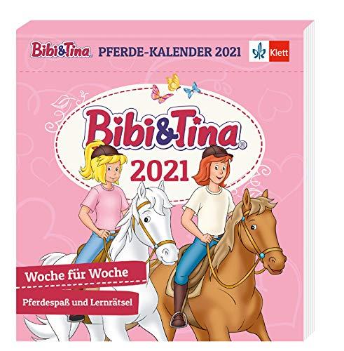 Bibi und Tina Kalender 2021: Postkartenkalender mit Pferdespaß und Lernrätseln, 1. und 2. Klasse, zum Aufstellen und Aufhängen: Woche für Woche Pferdespaß und Lernrätsel, 1./2. Klasse (Bibi & Tina)