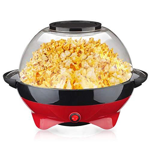 Classic Appliance Mais Popcornmaschine mit Abnehmbares Heizfläche Antihaftbeschichtet, 1200 Watt, 5 Liter, Bietet Große Deckel für Servierschüssel Red