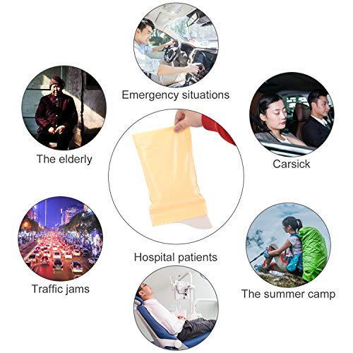 OTraki Disposable Urine Bags 600ml Super Absorbent Sealable Camping Emergency Pee Bag Large Capacity Travel Traffic Jam Portable Car Vomit Bags for Outdoor Activities(8x urine bags + 8 garbage bags)
