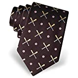 Men's 100% Silk Batter Up Baseball Neck Tie