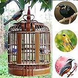 DXIUMZHP Gabbia per Birdcage Gabbia per Uccelli Vecchia Gabbia per Uccelli di bambù Fatta A Mano Collezione Decorativa Gabbia per Uccelli Cinese Thrush Grackle Myna Universal Cage
