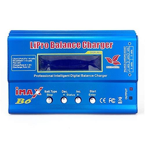 CENYAFAN Cargador del Balance de Imax RC Cargador B6 80W descargador for RC helicóptero Re-Pico for NIMH/NICD Aircraft iMax B6 Cargador 1S-6S Herramienta de Montaje de Piezas RC