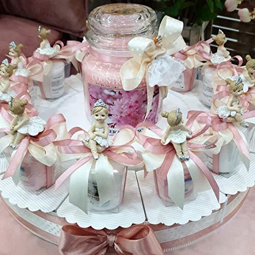 Bomboniere Candele profumate con Ballerina a Torta bomboniera (Torta 12 fette 1 Piano)