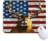 EILANNAマウスパッド アメリカのホワイトテイル鹿 ゲーミング オフィス最適 高級感 おしゃれ 防水 耐久性が良い 滑り止めゴム底 ゲーミングなど適用 用ノートブックコンピュータマウスマット