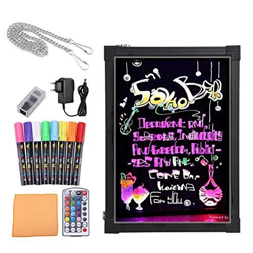 Lavagna Luminosa a Led LCD Drawing per pubblicità attività commerciali, Bordo di scrittura del messaggio del LED, con Telecomando, Ottima per Feste, Eventi, Vetrine (60x80cm)