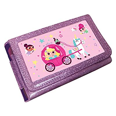 Princess Unicorn Animated 3D Pink Glitter Case (Nintendo 3DS XL /2DS XL)