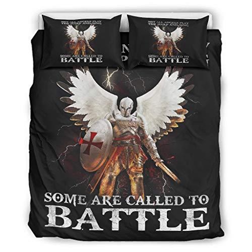 YxueSond lichtgewicht microvezel beddengoed Sets niet alle engelen spelen de harp en zingen sommige worden genoemd naar Battle Bed Set 3 stuks dekbed dekbedovertrek quilt cover Coverlet