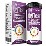 10 Parameters Urine Test Strips for Urinalysis. Made in USA. 150 Count. Includes: pH Test, Ketones, Protein. Reagent Test Paper. for Whole Family and Pets