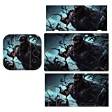 Venom'S-Smile Deadly Guardian Skin Decal Stickers for Nintendo Switch, Dazzling Protector Wrap Cover Protective Faceplate Full Set Console Joy-Con