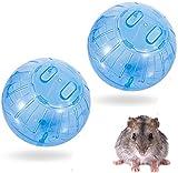 2 x Hamsterball Hamster Spielzeug Übungsball Sportball,Hamster Laufball Übungs Ball Rolle Kugel Laufkugel Joggingball Kleintiere Kunststoff Spielzeug,Blau,12cm