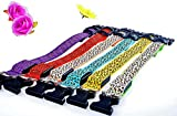 LED Halsband in verschiedenen Farben und Größen - Wasserdichte Halsbänder LED-Blinklicht-Band-Gurt für Haustiere Hunde und Katzen - Direktversand aus Deutschland