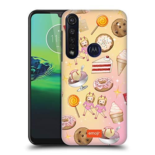 Officiële emoji® Snoepjes Patronen Hard Back Case Compatibel voor Motorola Moto G8 Plus
