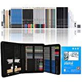 Drawing Pencils and Sketch Pad 72 Pieces,H & B Artist Colouring Pencils Sketching