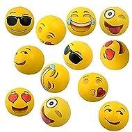 "Emoji Universe: 12"" Emoji Inflatable Beach Balls, 12 Pack"