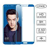 Draxlgon [2Pack] Full 9H Résistant Pleine Couverture Verre Trempé Film Protection Ecran pour Huawei Honor 9 Lite/Honor 9 Youth LLD-AL00 LLD-AL10 LLD-TL10 LLD-L31 Blue