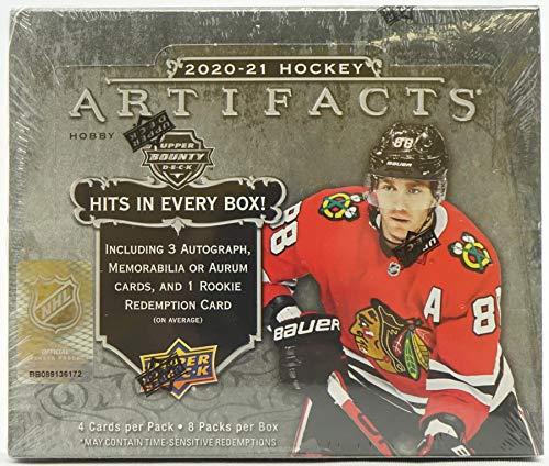 2020/21 Upper Deck Artifacts NHL Hockey HOBBY box (8 pks/bx)