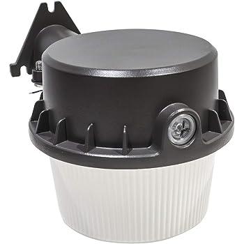 Designers Fountain AS3019D40-27 Modern Led Dusk to Dawn Single-Head Grey Outdoor Flood Light