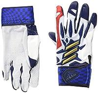 [アディダス] 野球用手袋・グローブ エアロレディ バッティンググローブ GLJ32 メンズ ホワイト/ゴールドメタリック(FS3900) 日本 L (FREE サイズ)