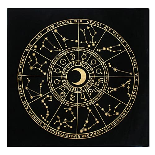 YUZI Mantel de terciopelo de gamuza para tarot de adivinación altar tarot parche cubierta de mesa para magos diario juegos de mesa almohadilla de tarjetas