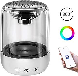 LED Bluetooth Speaker, Portable Bluetooth Speakers,Colorful Night Light Wireless Speaker, Bedside Lamp & Built in Mic for iPhone/Samsung/Speakerphone/TF Card/Tablet/Laptop/Echo Dot