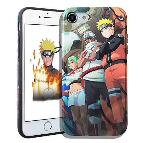 Jowhep for iPhone 7/8/SE 2020 Case Cover Cases Hard TPU Cartoon Anime 3D Funny Fun Design Character Unique Shell for Girls Boys Friends Men - Three People (for iPhone 7/8/SE 2020 4.7')