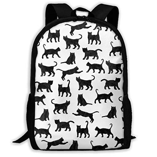 XCNGG Erwachsenen-Vollformat-Druckrucksack Lässiger Rucksack Rucksack Schultasche Cat Black Large Capacity Travel Computer Backpack, Adult Printed Backpack, Anti Splash Student School Backpack