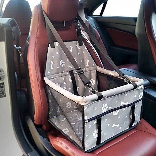 Minve Pet Car Seat, pieghevole e impermeabile Dog Car Seat Carrier con cintura & Storage Bag per cani e gatti