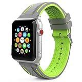 MoKo Armband Kompatibel fr Apple Watch 42mm 44mm, Silikon Sport Band Uhrenarmband Erstatzband fr...