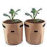 <span class='highlight'><span class='highlight'>Jeffergarden</span></span> Grow Bags Breathable Potato Tomato Planting Bag Outdoor Garden Vegetable Plant Garden Home Office Balcony Decor (Brown)