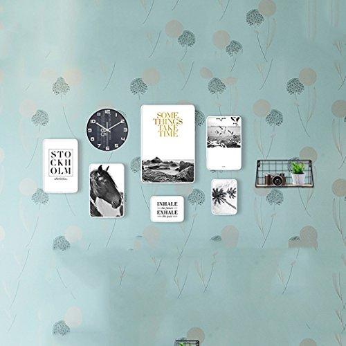 XING ZI Fototapete G-Y Foto Wand Bilderrahmen Wand Wohnzimmer Esszimmer Europäischen Stil 6 Bilderrahmen Kombination (Farbe : F)