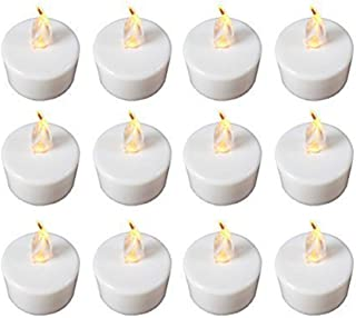 Saint Valentin f/ête cadeau Uhat/® Lot de 24/bougies chauffe-plat sans flamme Bougies /à changement de couleur LED multicolores lumi/ère pour f/ête