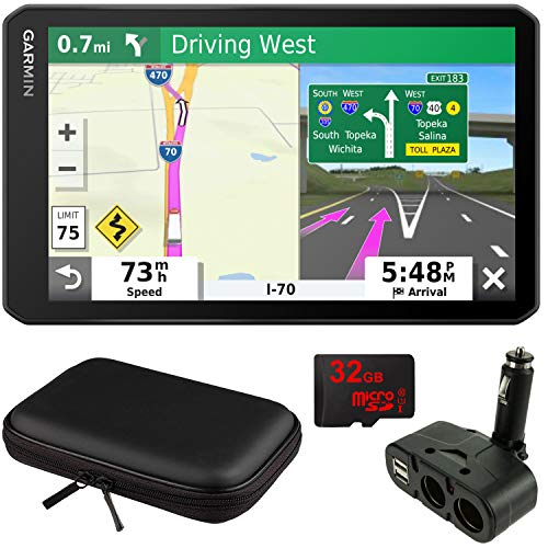 "Garmin dezl OTR700 7"" GPS Truck Navigator (010-02313-00) with Accessory Bundle"