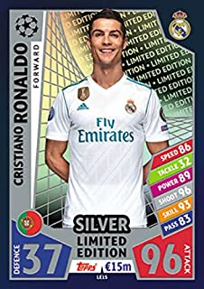MATCH ATTAX CHAMPIONS LEAGUE 17/18 CRISTIANO RONALDO SILVER LIMITED EDITION TRADING CARD LES1 - REAL MADRID 17/18