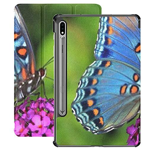 Funda para Galaxy Tab S7 Funda Delgada y Liviana con Soporte para Tableta Samsung Galaxy Tab S7 de 11 Pulgadas Sm-t870 Sm-t875 Sm-t878 2020 Release, Hermosa Limenitis de Mariposa Morada con Manchas r