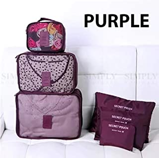 Travel Organiser Bags Set Clothes Storage Packing Cubes Pouches Luggage Suitcase